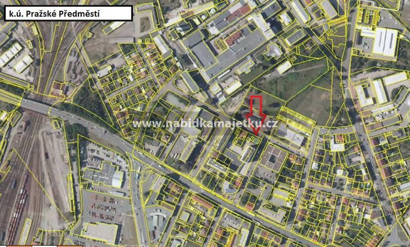 Pražské Předměstí - stavba bez čp/če - garáž na
