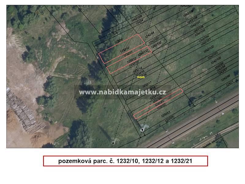 Hodonín, pozemková parc. č. 1232/10, 1232/12 a 123
