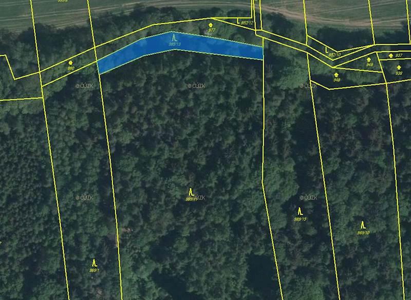 Hřivice pozemek p.č. 989/13 o výměře 985 m2