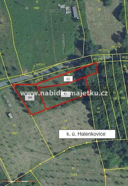 Halenkovice, parc. č. 92, 93 a 94